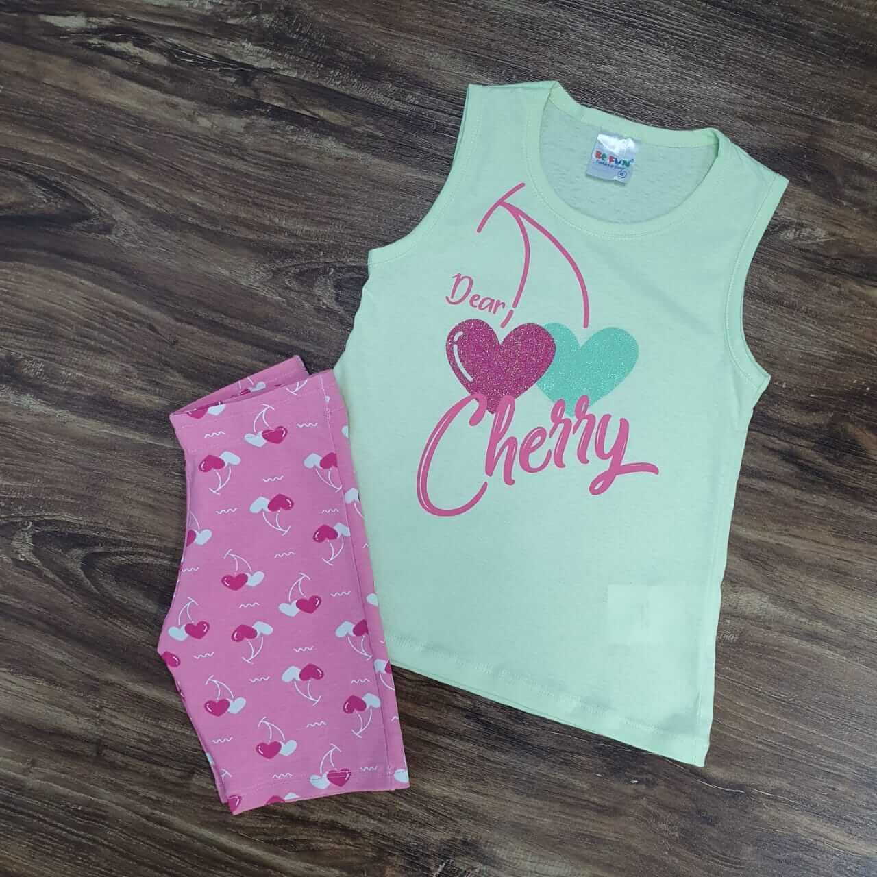 Shorts com Regata Cherry Infantil