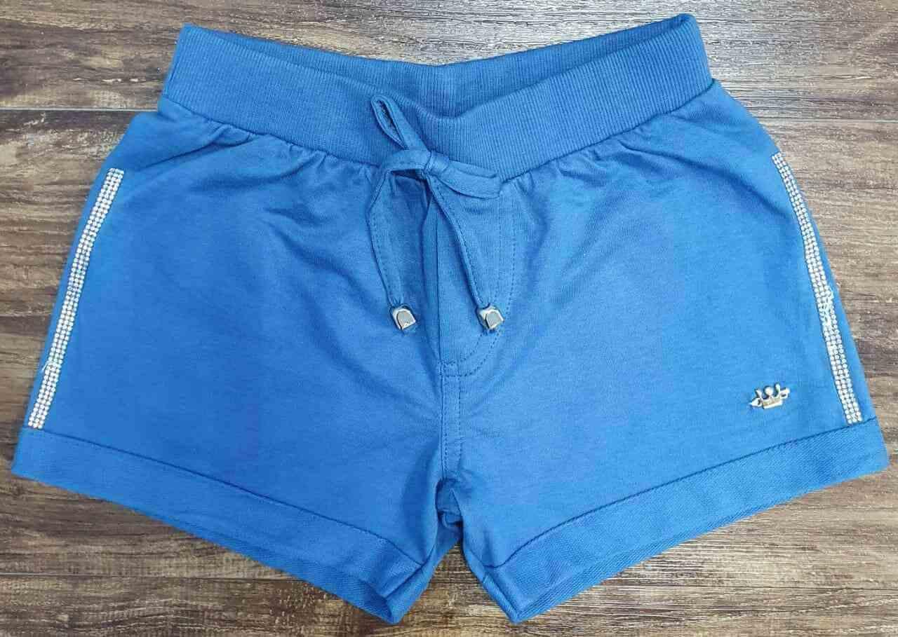 Shorts Feminino Azul Infantil