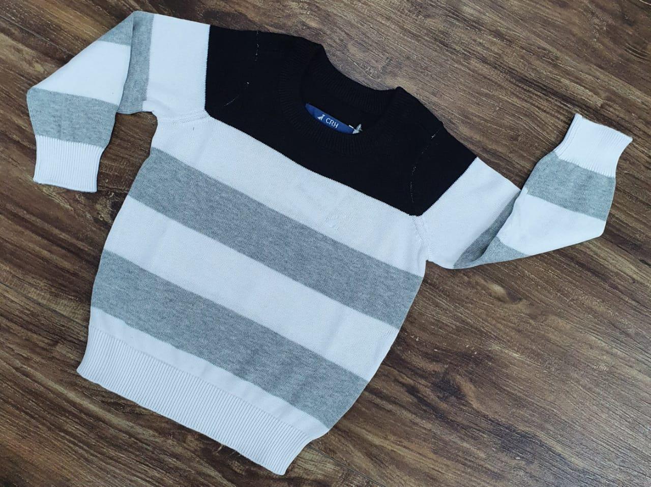 Suéter Branco Listrado