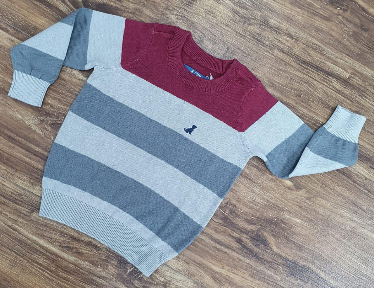 Suéter Cinza Listrado