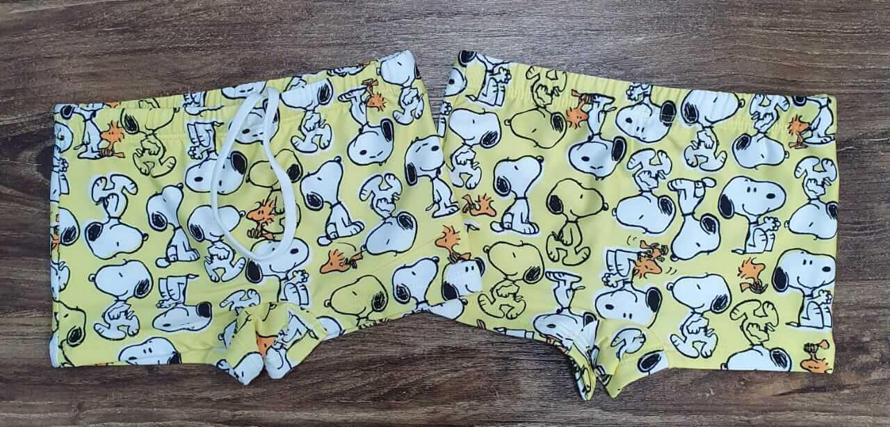 Sunga Snoopy Amarela Infantil