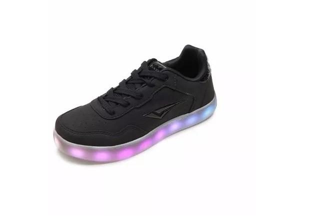 Tênis Bouts Luminous LED Preto Fosco