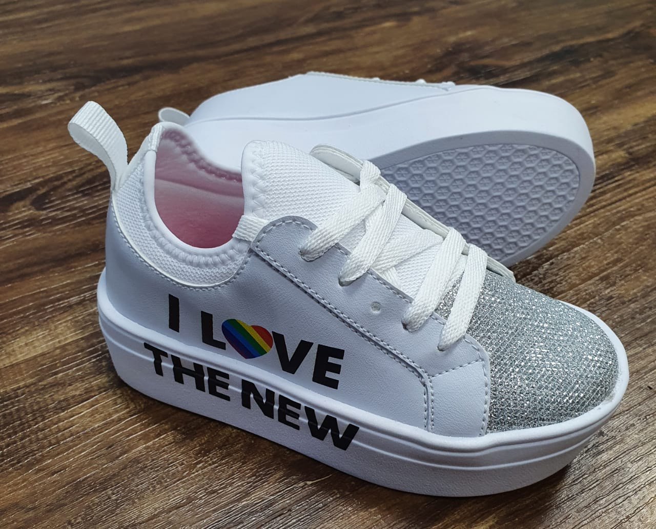 Tênis I Love Branco Cadarço Infantil