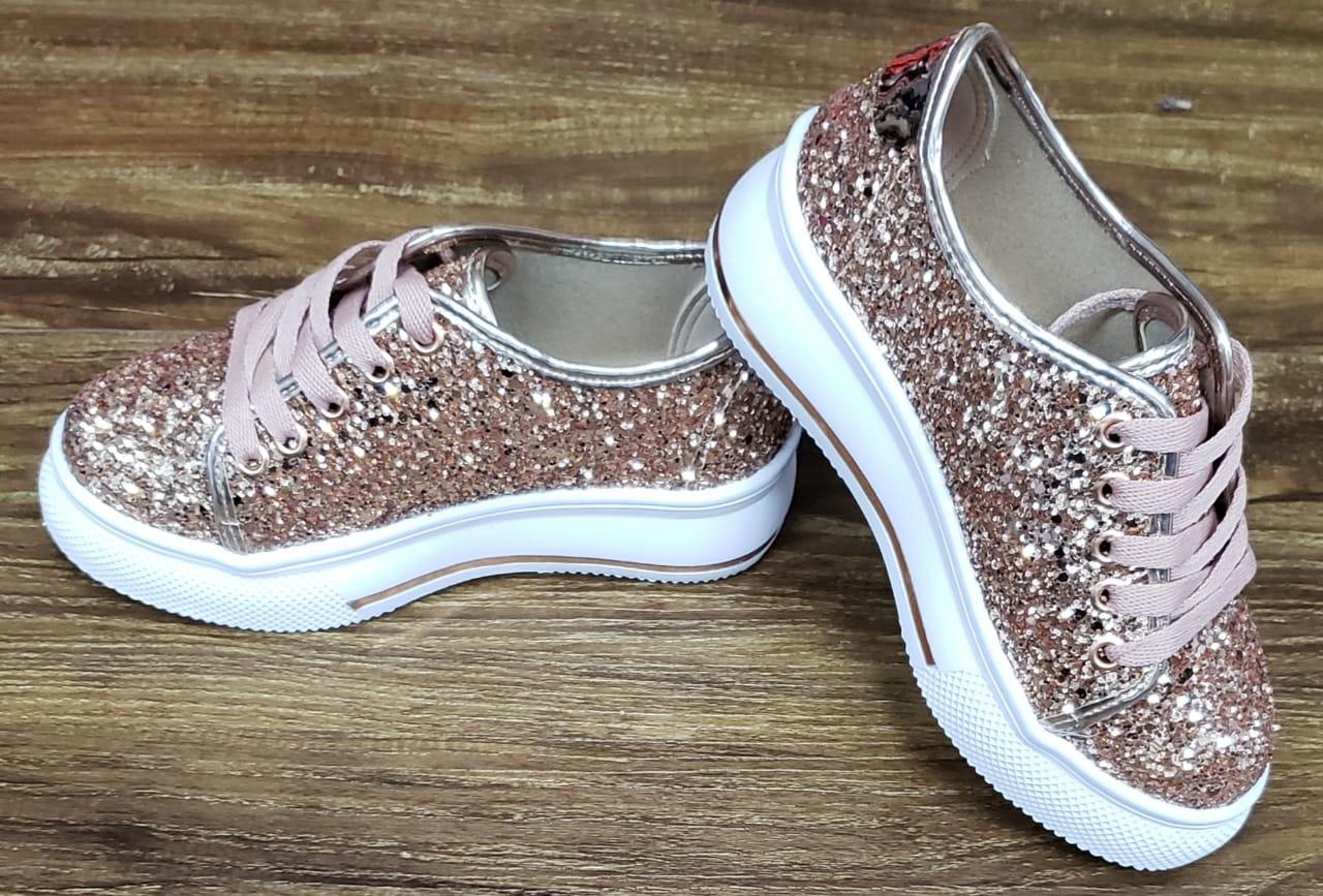 Tênis Menina com Glitter