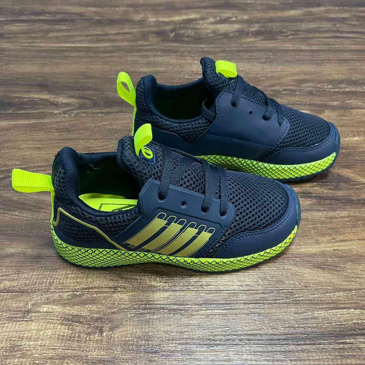 Tênis Race Azul com Verde Infantil