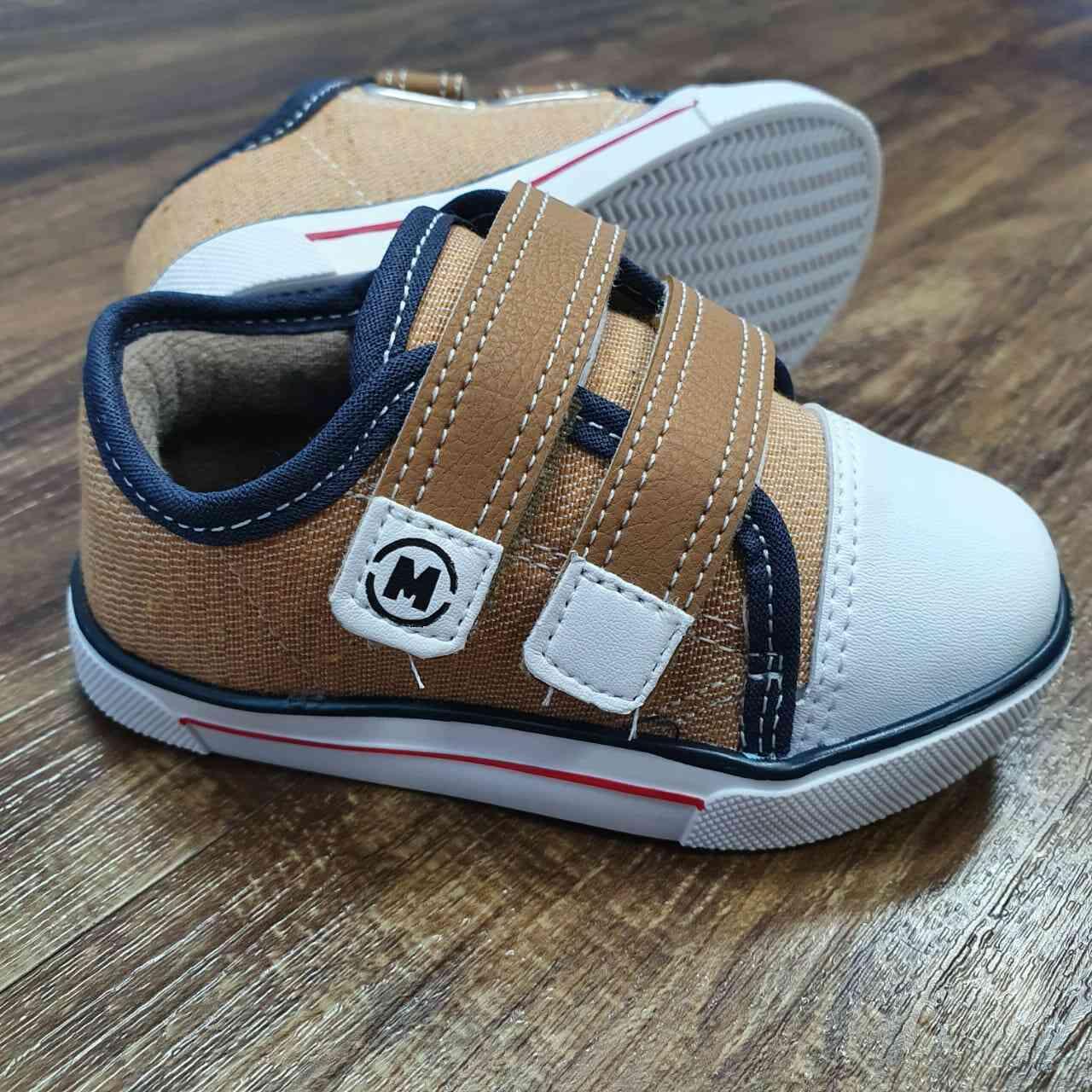 Tênis Velcro Plus Caramelo Infantil