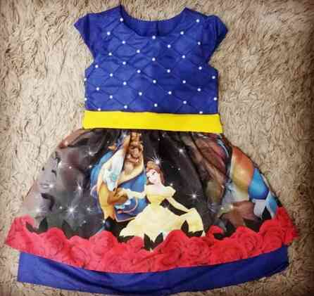 Vestido A Bela e a Fera Infantil