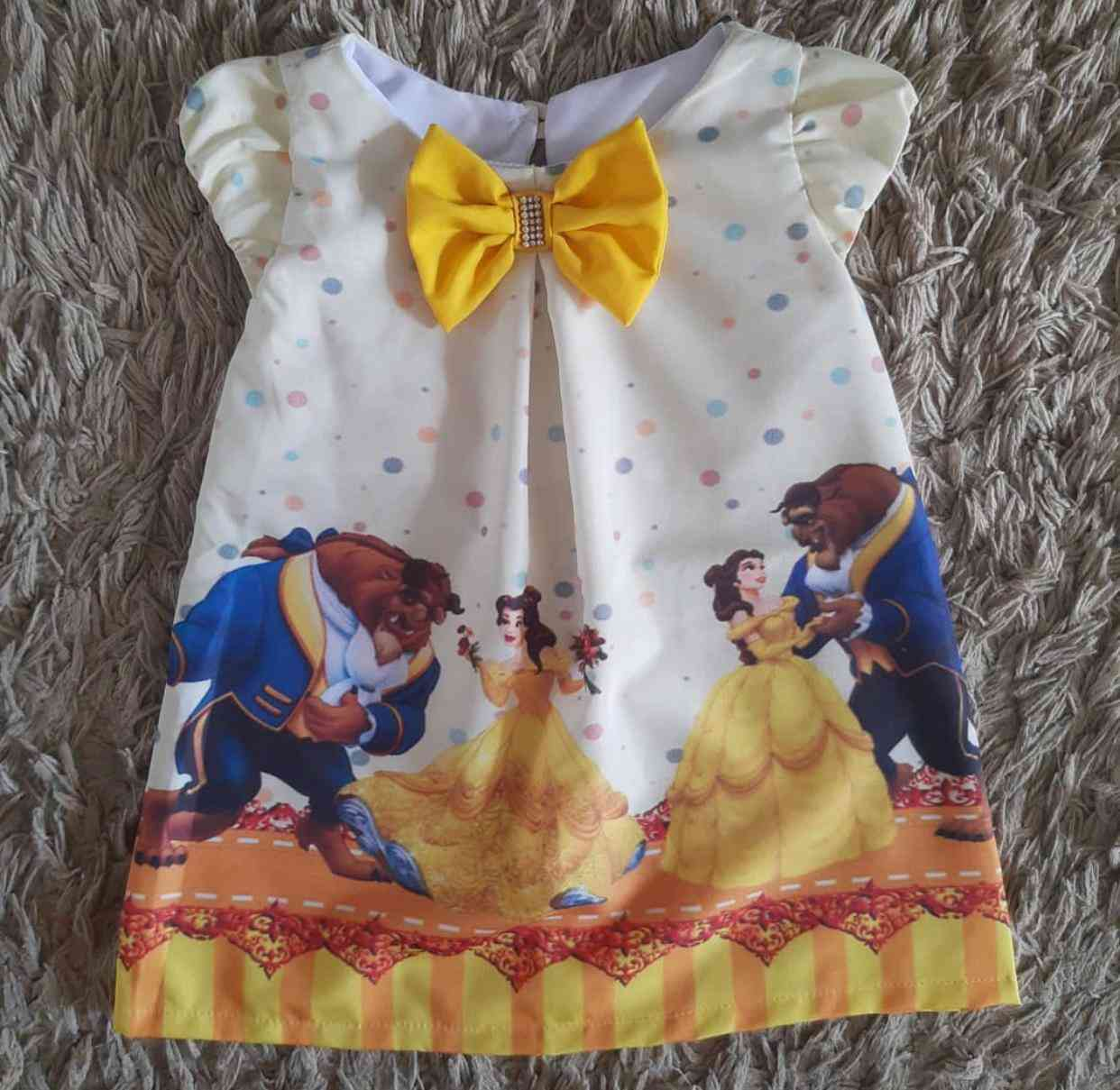 Vestido Curto A Bela e a Fera Infantil