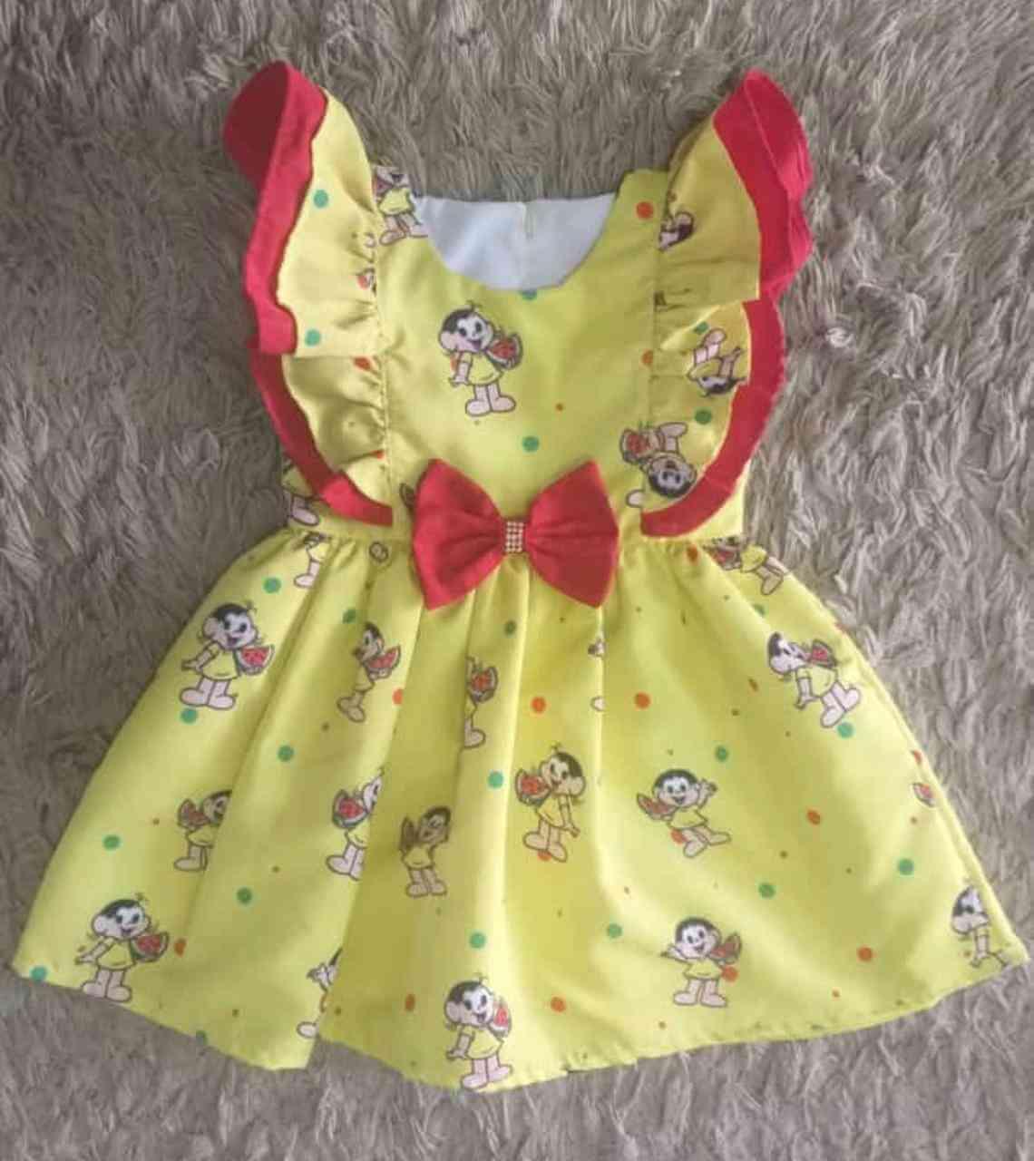 Vestido Amarelo Magali Infantil