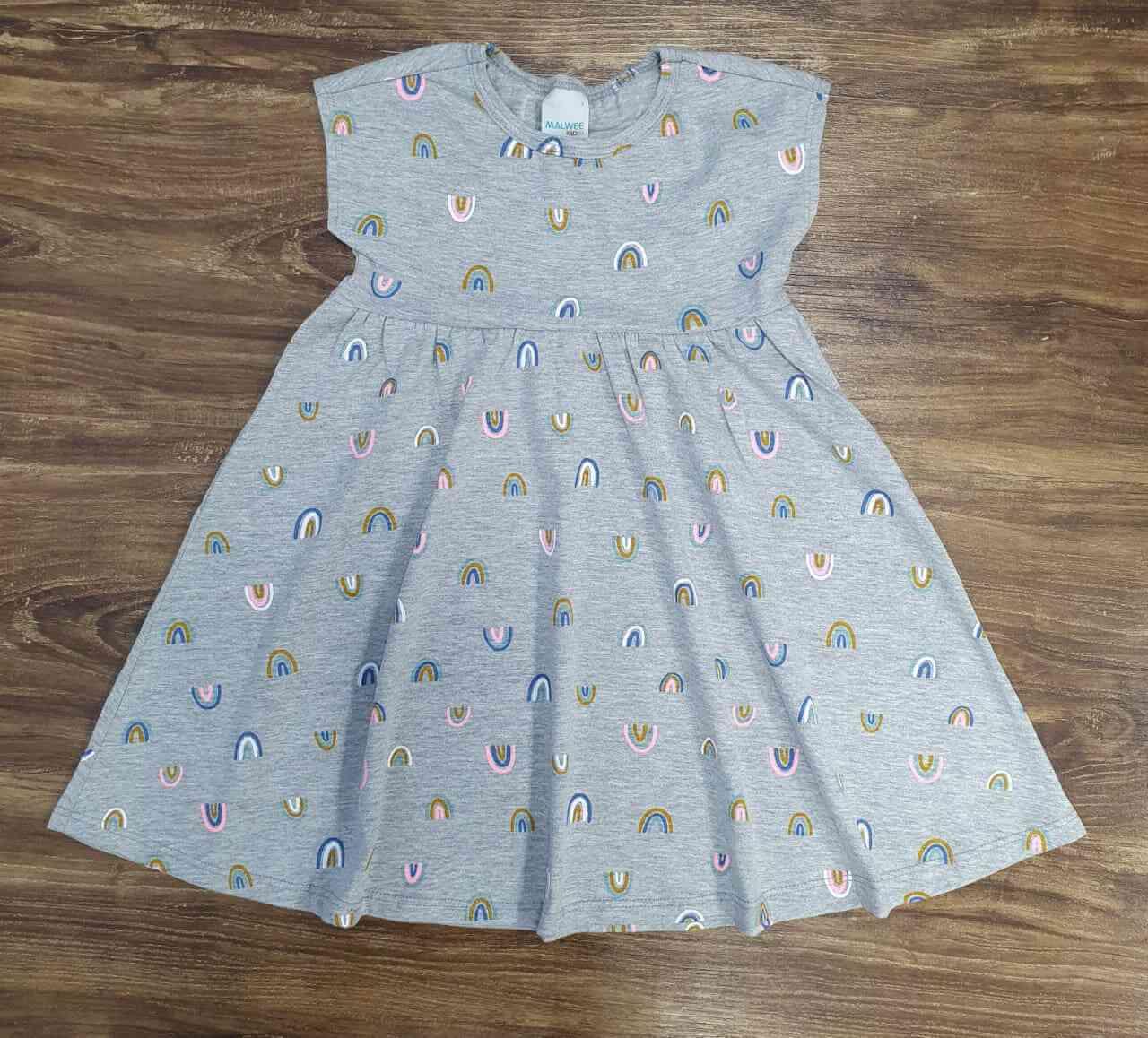 Vestido Arco-Íris Infantil