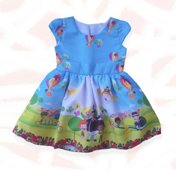 Vestido Azul Mundo Bita Infantil