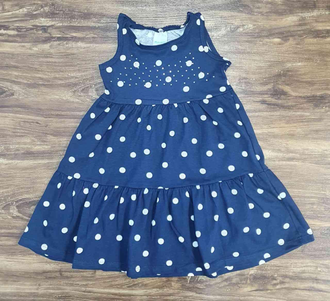 Vestido Curto de Bolinha Infantil