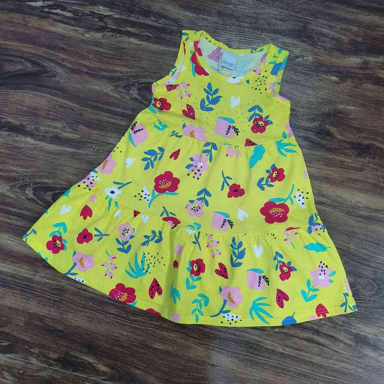 Vestido Curto Florido Infantil