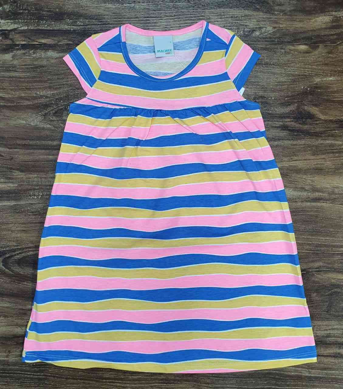 Vestido Curto Listrado Infantil