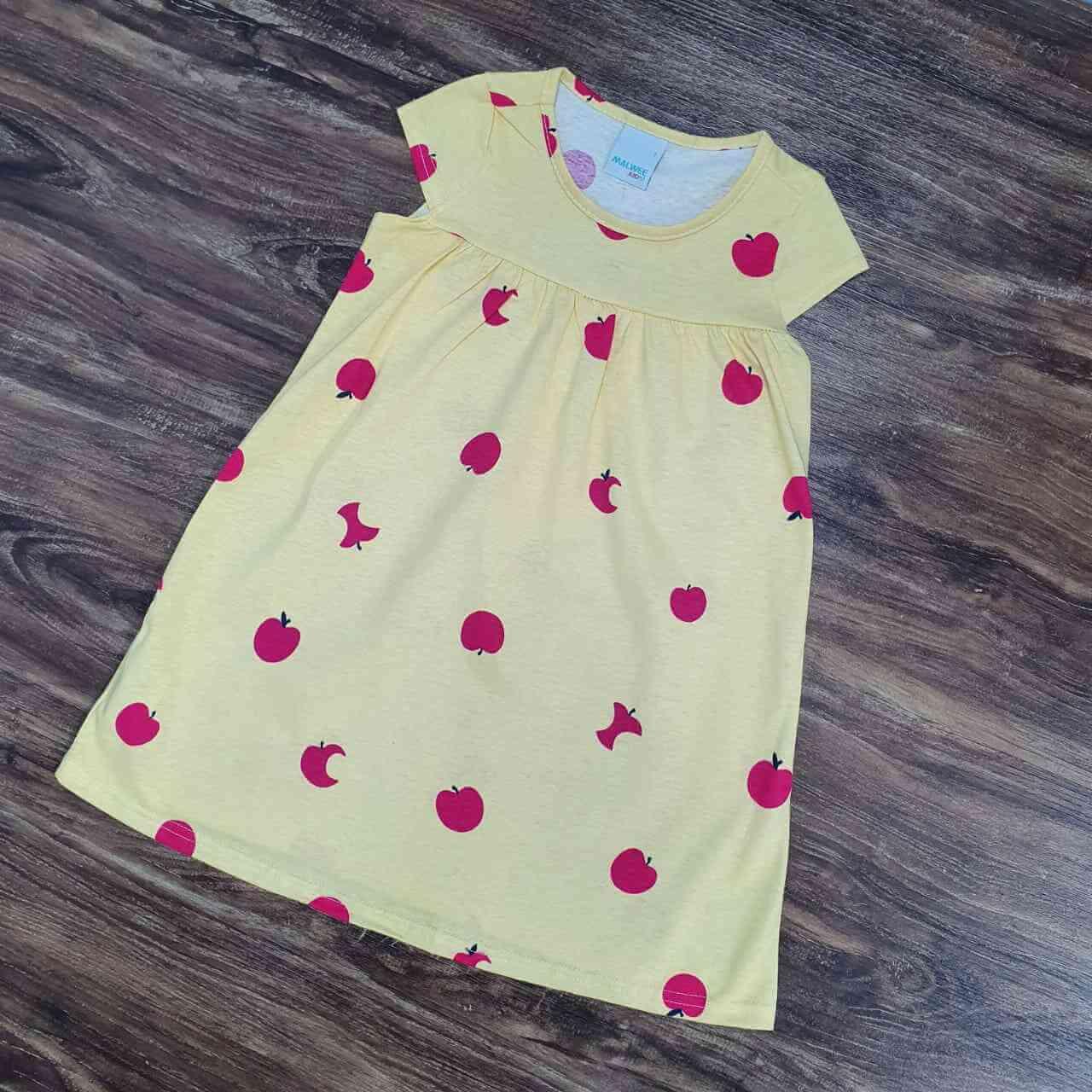 Vestido Curto Maças Infantil