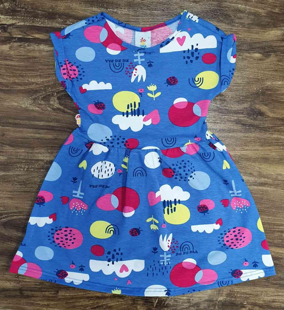 Vestido Curto Nuvens Infantil