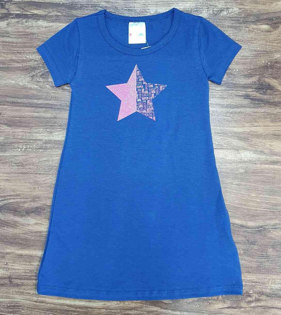 Vestido Curto Star Infantil