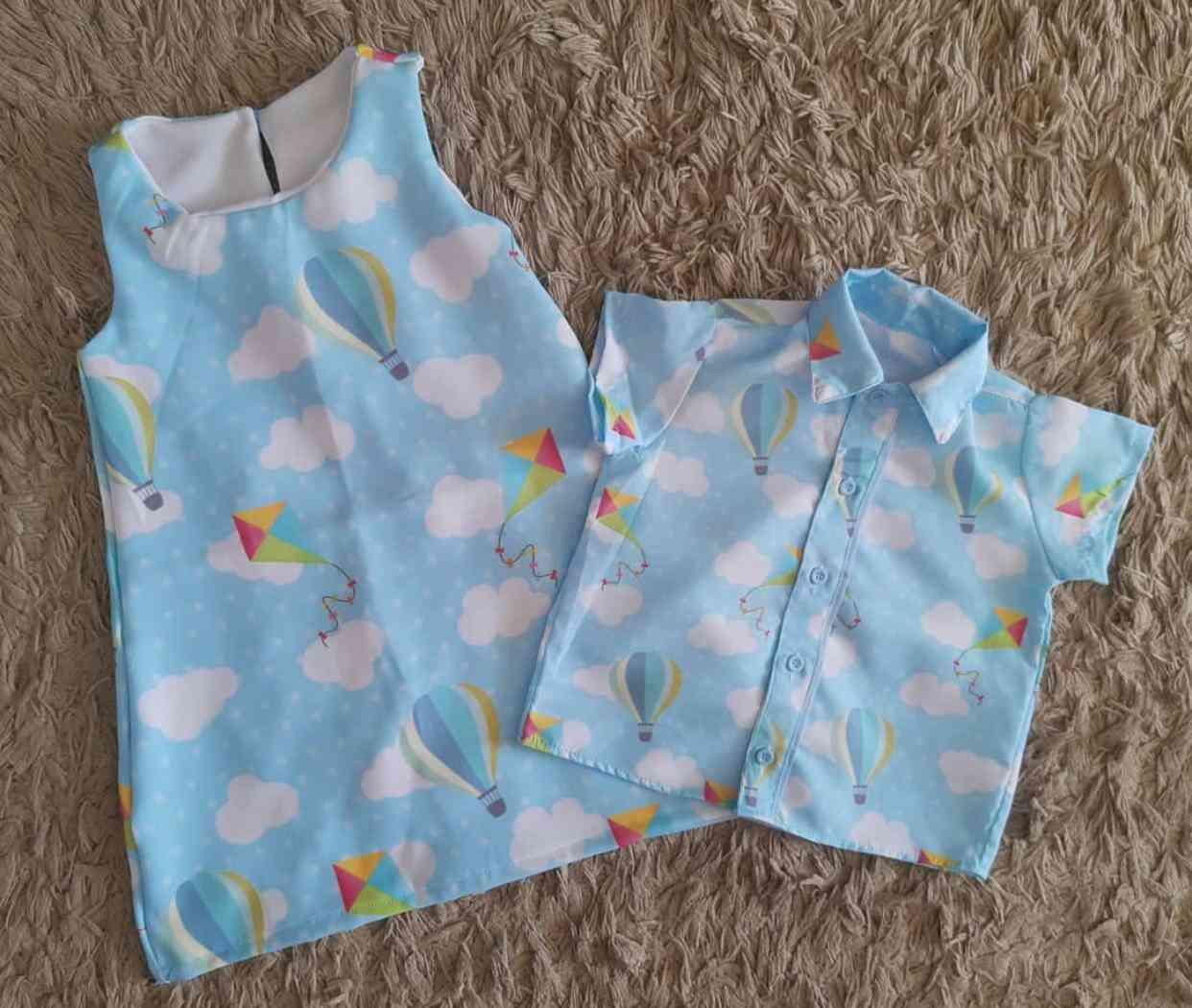 Vestido e Camisa Brinquedos Irmãos Infantil