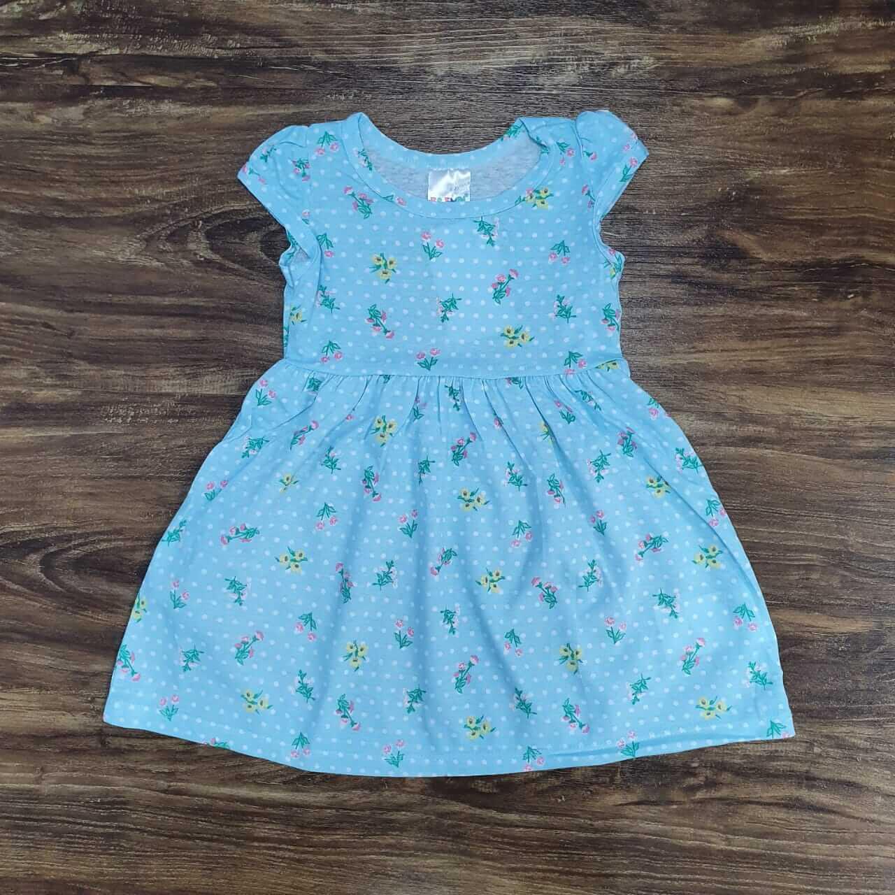 Vestido Floral Azul Infantil