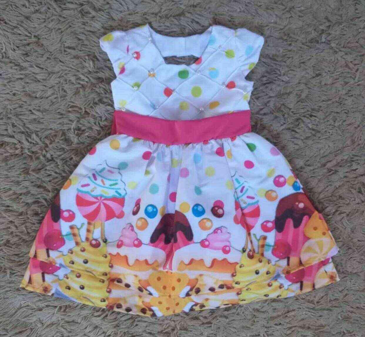 Vestido Longo Doces Infantil