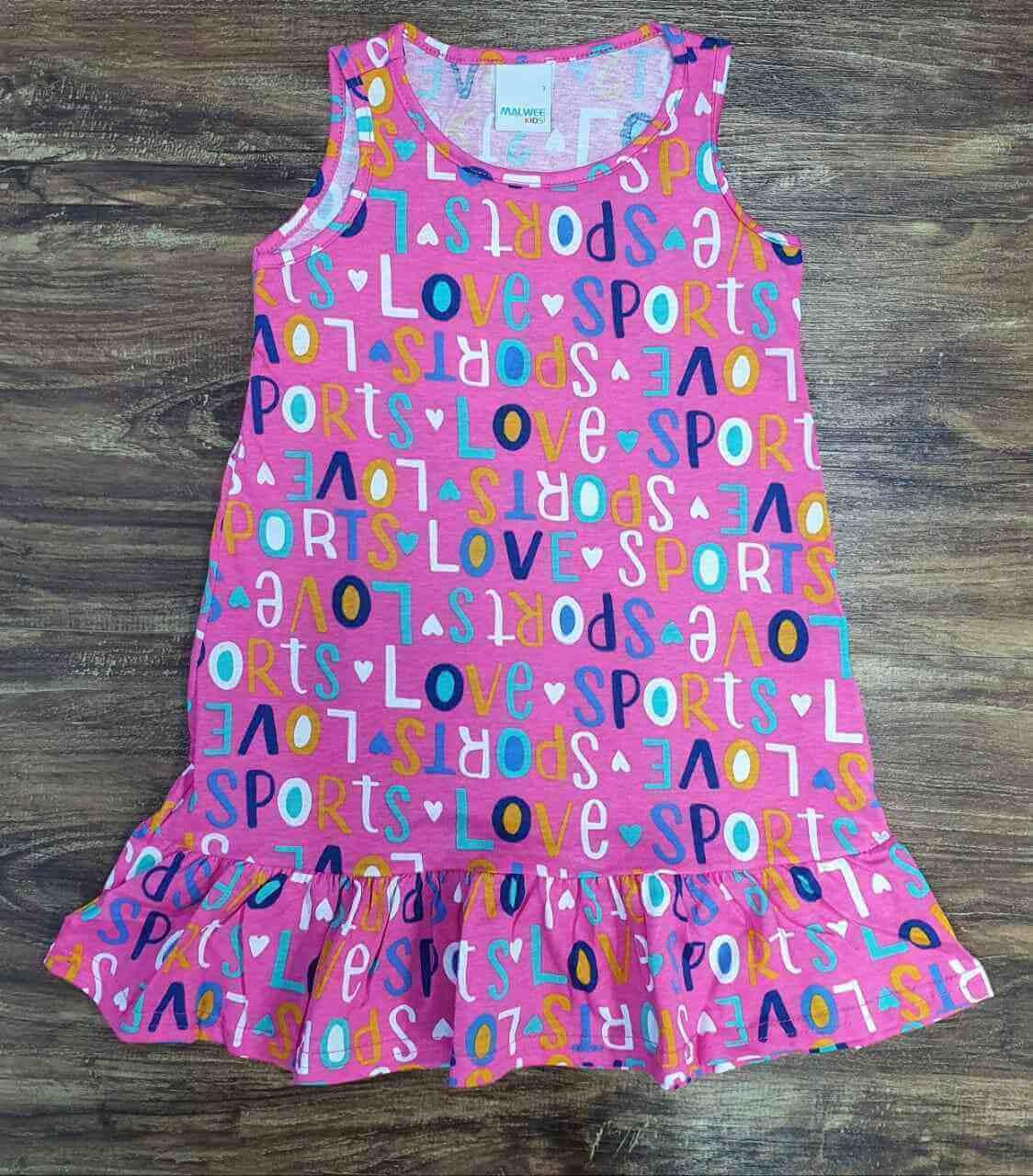 Vestido Love Sport Infantil