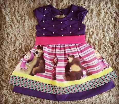 Vestido Masha e o Urso Infantil