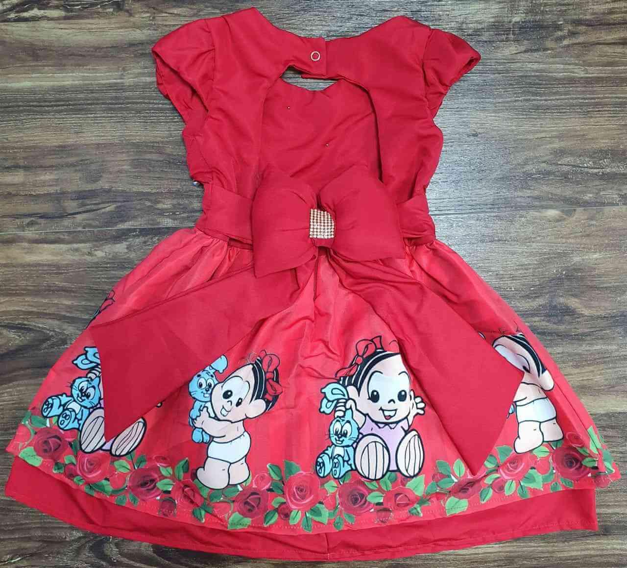 Vestido Mônica Baby Infantil