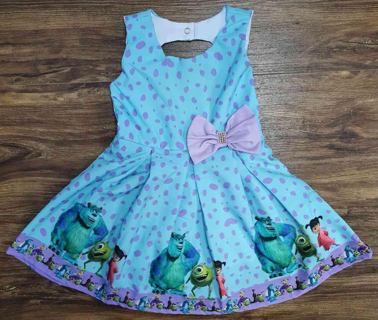 Vestido Monstros S.A. Infantil