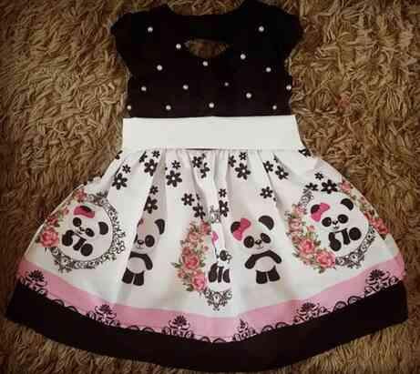 Vestido Panda Infantil