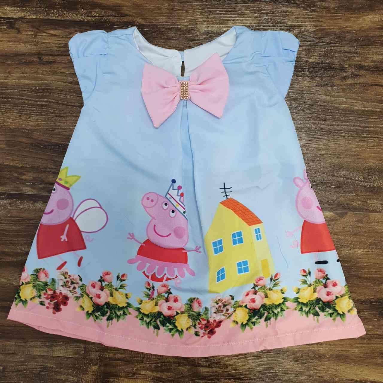 Vestido Curto Peppa Pig Infantil