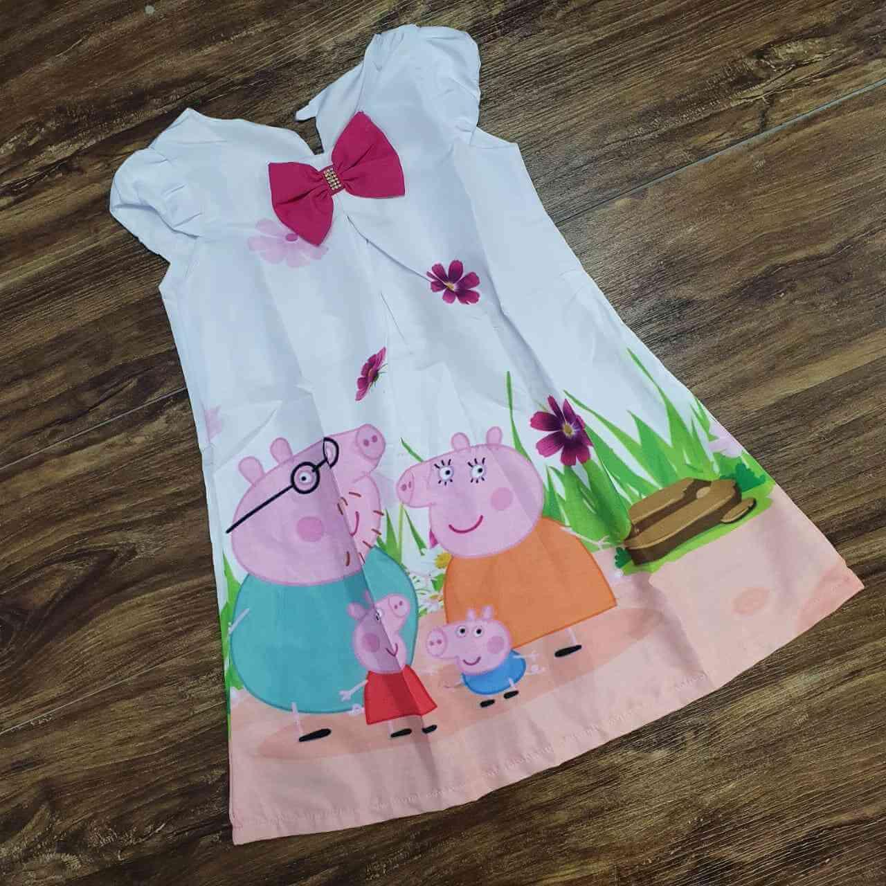 Vestido Peppa Pig Família Infantil