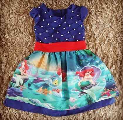 Vestido Pequena Sereia Infantil
