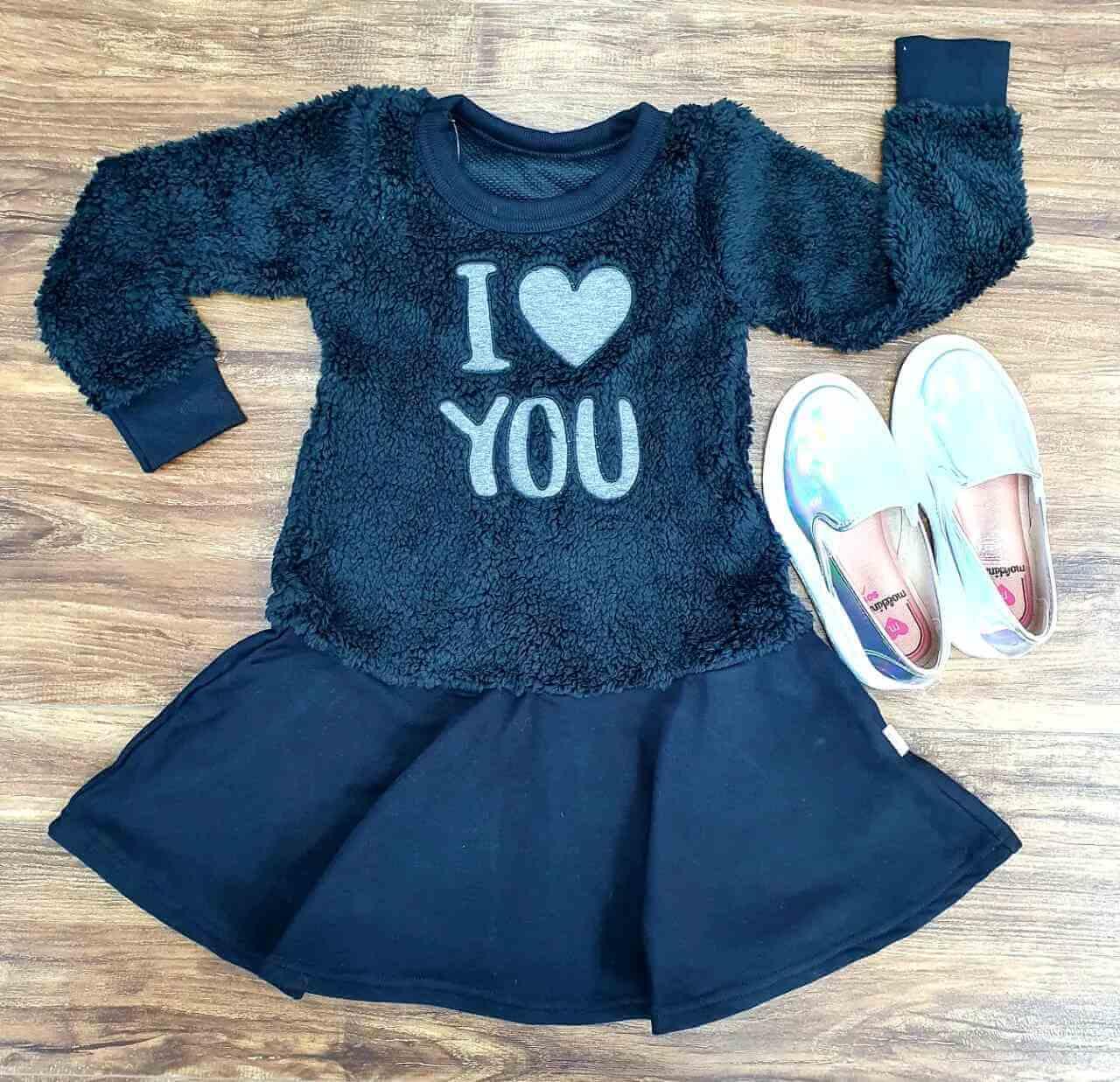 Vestido Preto I Love You