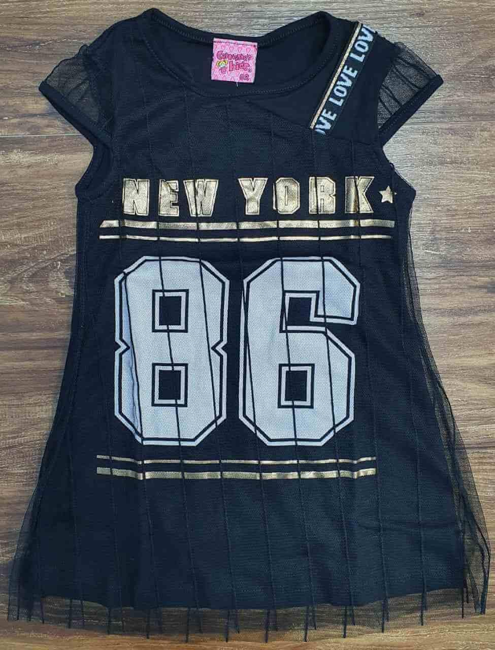 Vestido Preto New York 86 Infantil