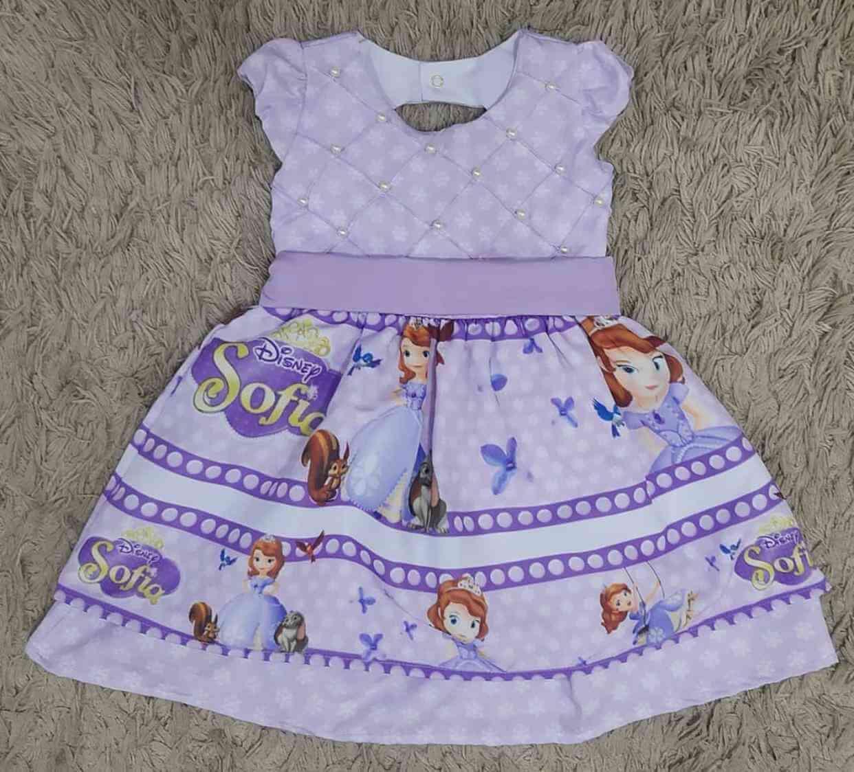 Vestido Princesinha Sofia Infantil