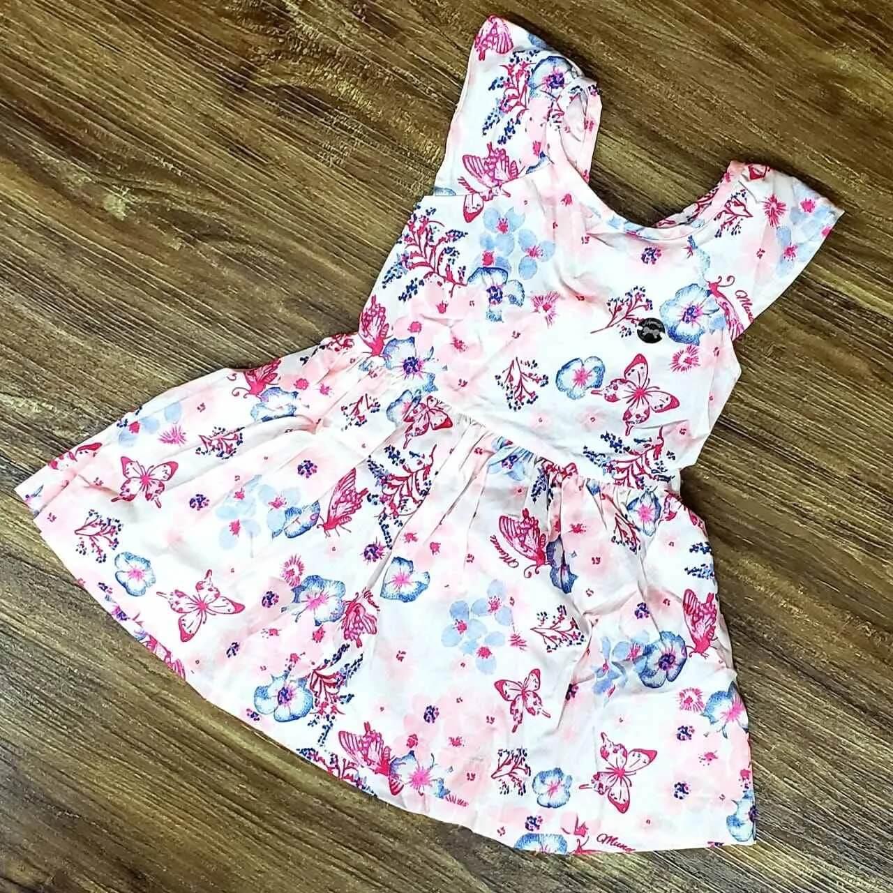 Vestido Rosa Floral Infantil