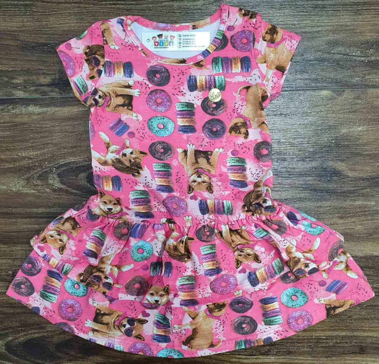 Vestido Rosa Pets Infantil