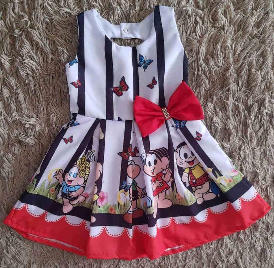 Vestido Turma da Mônica Infantil
