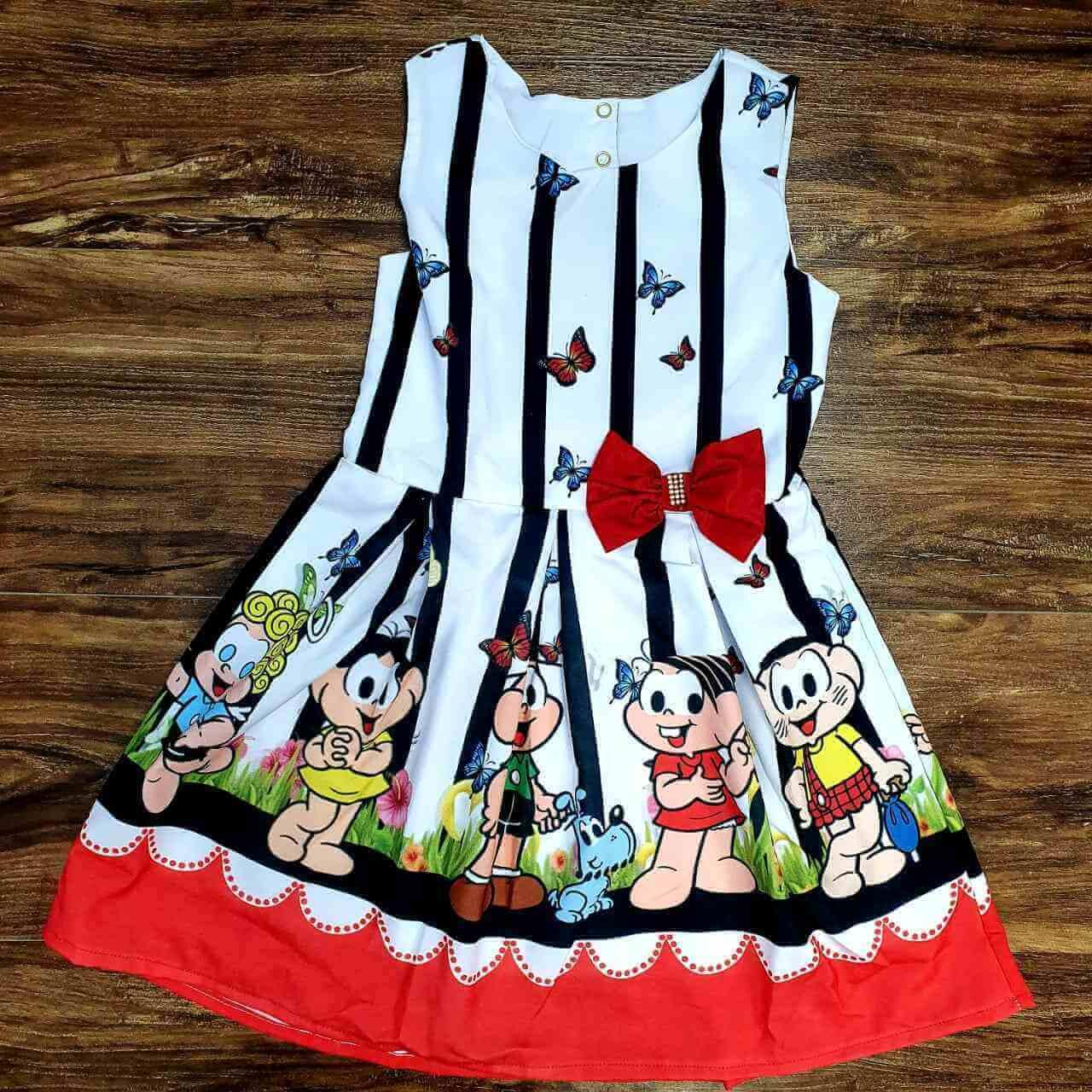 Vestido Turma da Mônica Menina