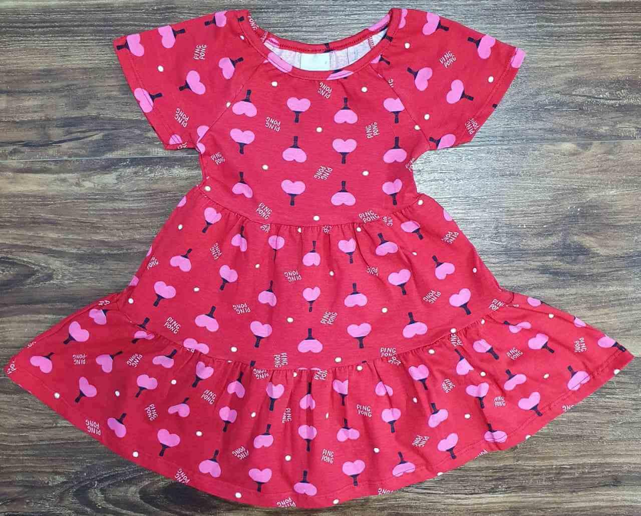 Vestido Vermelho Ping Pong Infantil