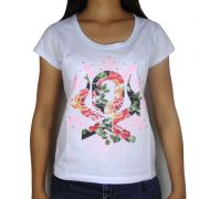 Blusinha Country Feminina Ox Horns Floral 6033