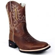 Bota Country Masculina Show Horse Tabaco