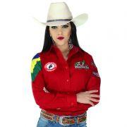 Camisa Country Feminina Radade Torcida do Bem Vermelha