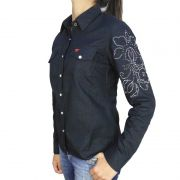 Camisa Country Feminina Strass Black Alabama