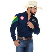 Camisa Country Masculina Radade Barretos Marinho