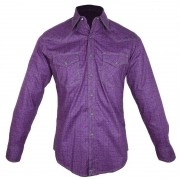 Camisa Country Masculina Wrangler Roxa MJC063M