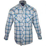 Camisa Country Masculina Wrangler Xadrez Bordada