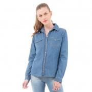 Camisa Jeans Feminina Wrangler Wf 7500