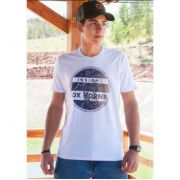 Camiseta Country Masculina Ox Horns Branca