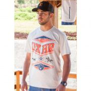 Camiseta Country Masculina Ox Horns Calf Roping